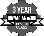 Industry Leading Three Year Warranty